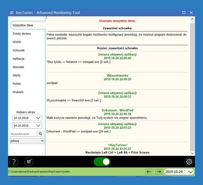 Keylogger.pl – program do monitorowania aktywności na komputerze